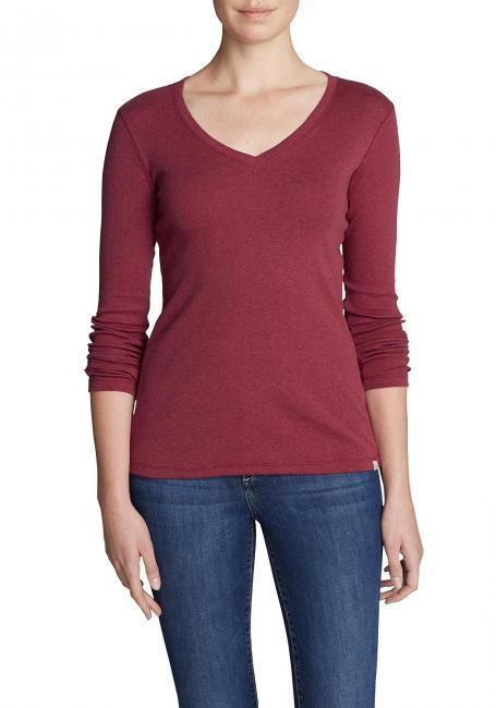 Favorite Shirt - Langarm mit V-Ausschnitt - Uni