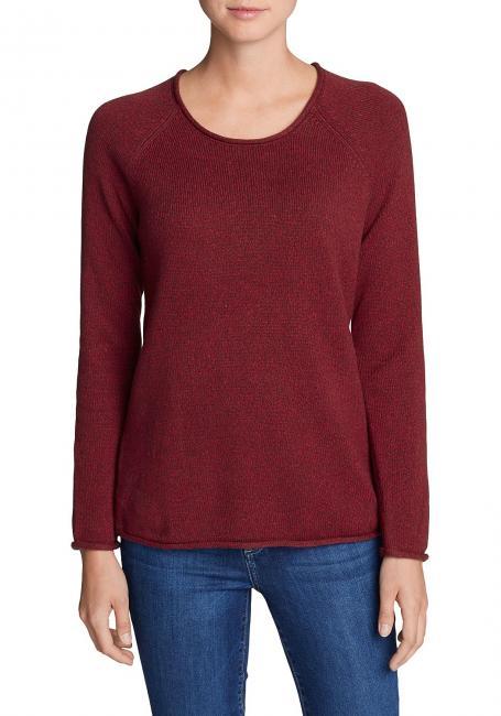 Sweatshirt-Pullover - Meliert