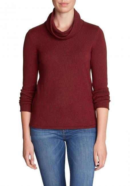 Sweatshirt-Pullover - Wasserfallausschnitt