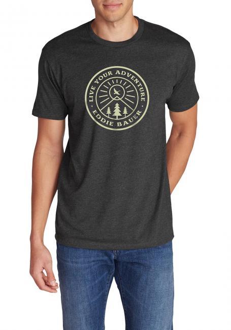 T-Shirt mit Motiv - Rays