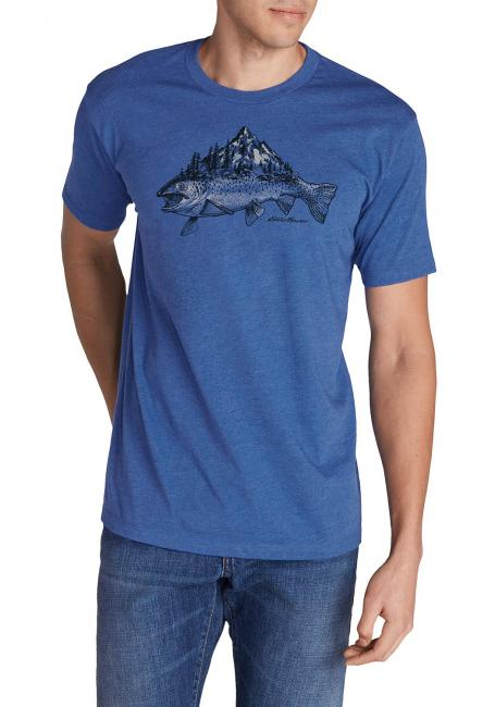 T-Shirt mit Motiv - Trout Mountain Stream
