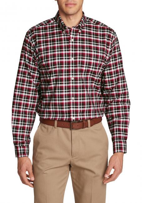 Knitterarmes Oxfordhemd - Langarm - Gemustert