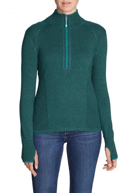 Engage Pullover mit 1/4-Reissverschluss - Uni