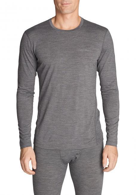 Merino Hybrid Shirt mit Rundhalsausschnitt - Lightweight