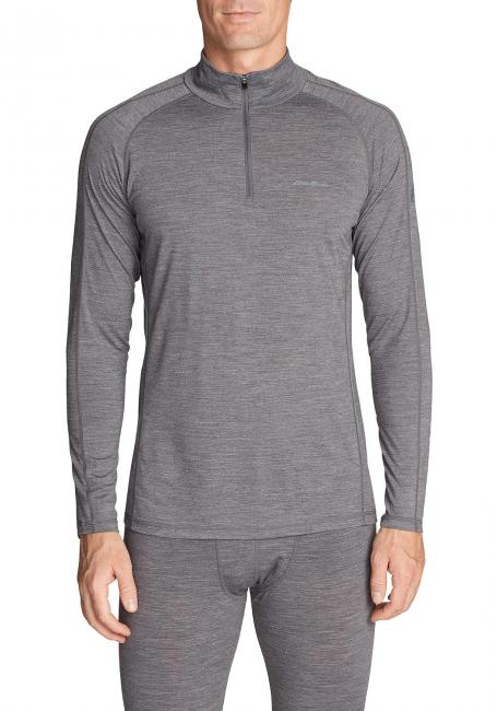 Merino Hybrid Shirt mit 1/4-Reissverschluss - Heavyweight