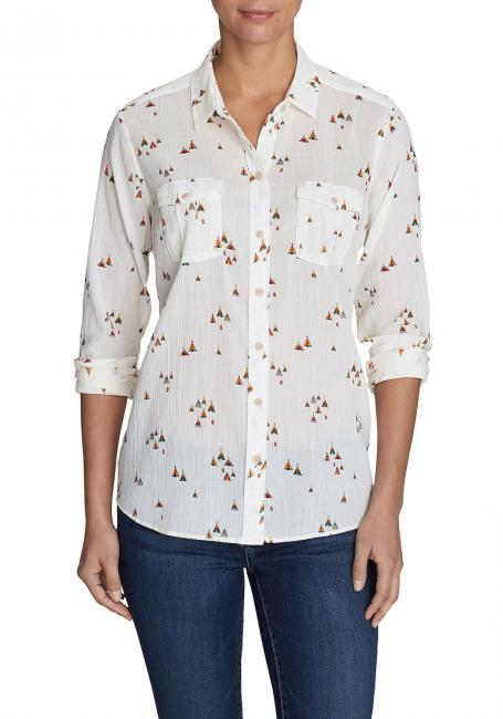 Packbare Bluse - Bedruckt