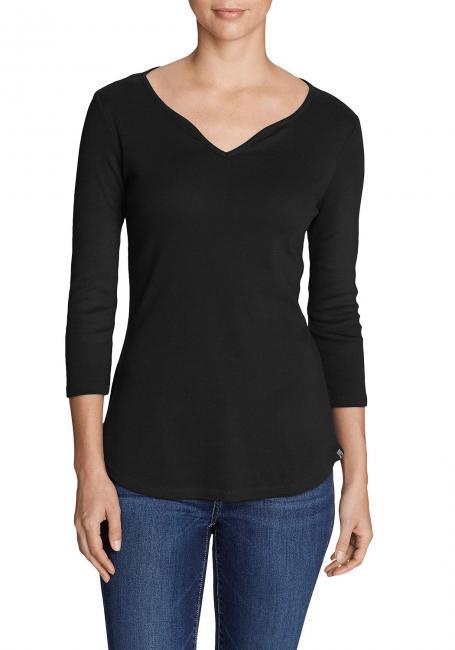 Favorite Shirt - 3/4-Arm mit Y-Ausschnitt - uni