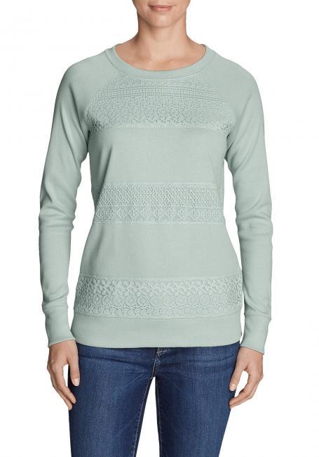 Legend Wash Sweatshirt mit Häkeldetails