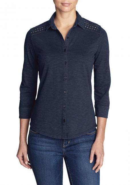 Ravenna 3/4-Arm-Shirt mit Lochmuster