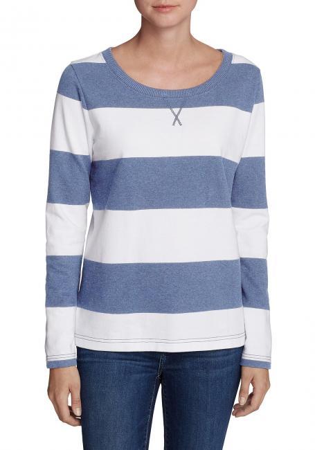 Sweatshirt mit Rugby-Streifen