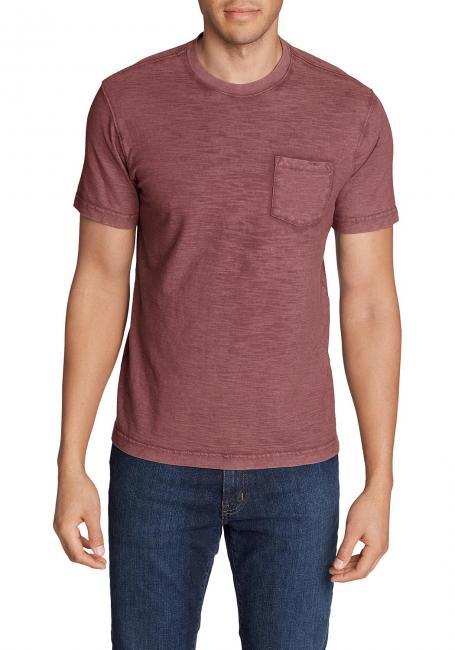 Legend Wash Slub-Shirt mit Tasche - Kurzarm