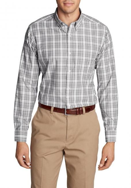 Knitterarmes Pinpoint-Oxfordhemd - Langarm - Classic Fit - gemustert