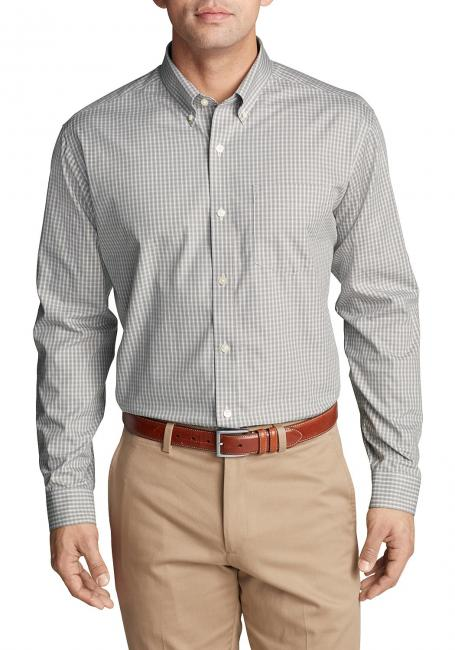 Knitterarmes Pinpoint - Oxfordhemd - Langarm - Classic Fit - gemustert