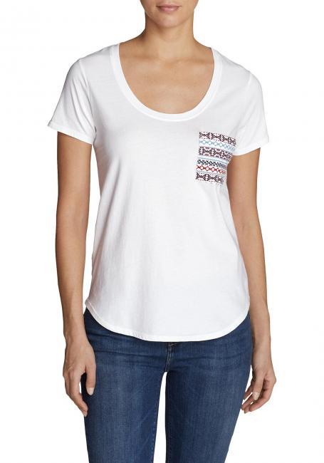 Malachite T-Shirt mit bestickter Tasche