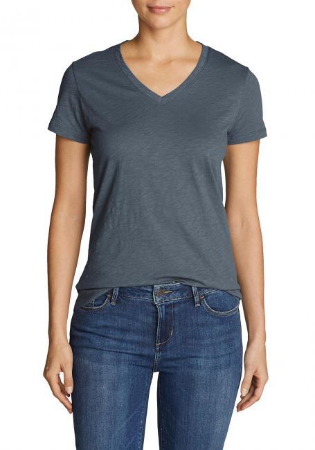 Essential Shirt - Kurzarm mit V-Ausschnitt