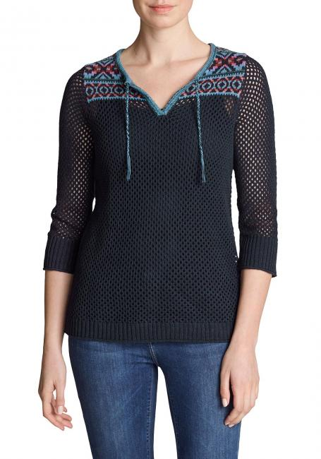 Beachside Jacquard Pullover