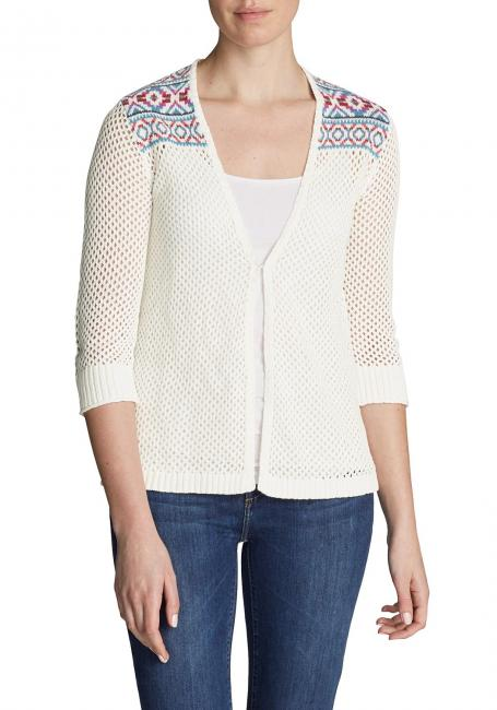 Beachside Cardigan -gemustert