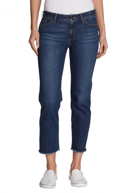 Elysian 7/8 Jeans - fransiger Saum - Slim Straight