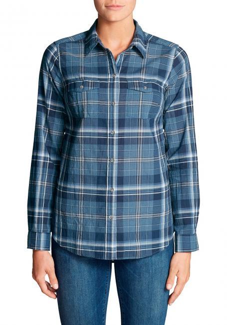 Packbare Bluse Langarm - gemustert
