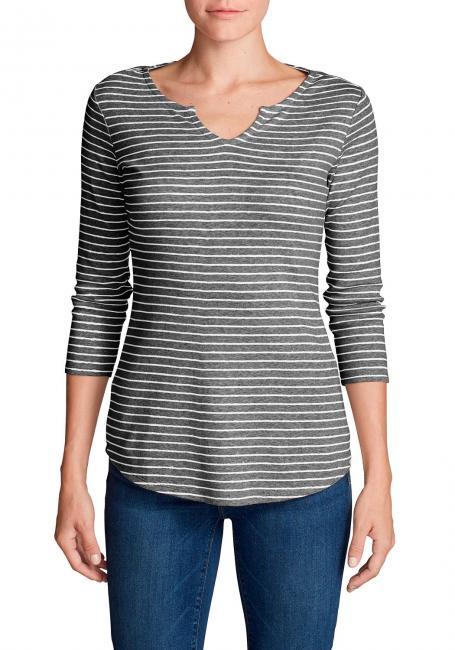Favorite Shirt - 3/4-Arm mit Y-Ausschnitt - geringelt