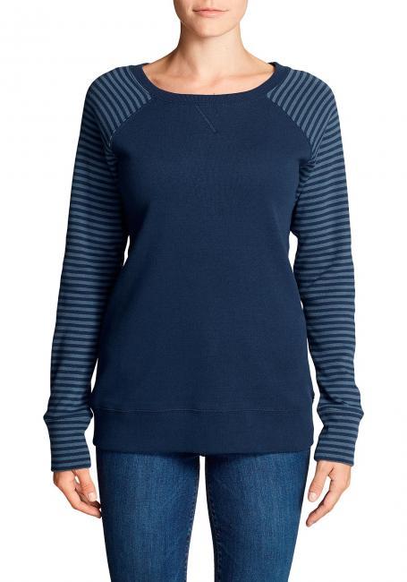 Legend Wash Sweatshirt mit V-Ausschnitt - Colorblock