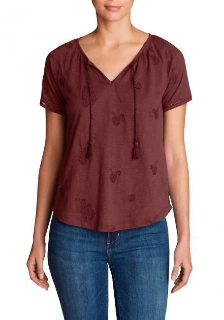 Mountain Meadow Shirt mit Kordeln - bestickt