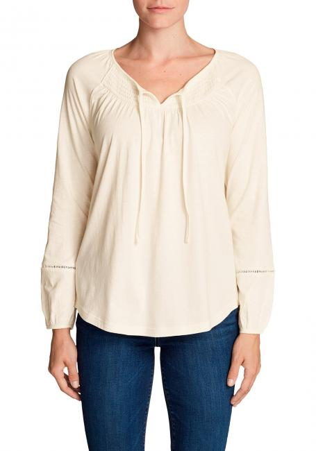 Willow Shirt mit Langarm - Gesmokt