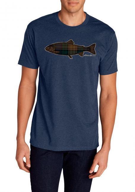 T-Shirt - Plaid Fish