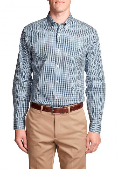 Knitterarmes Pinpoint Oxfordhemd - Langarm - Classic Fit - Blautöne