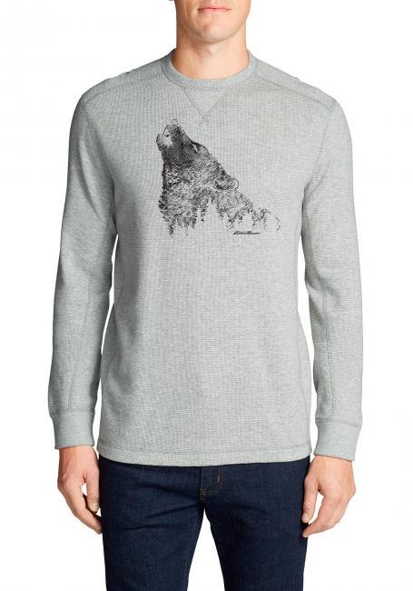 Waffelshirt - Howling Wolf