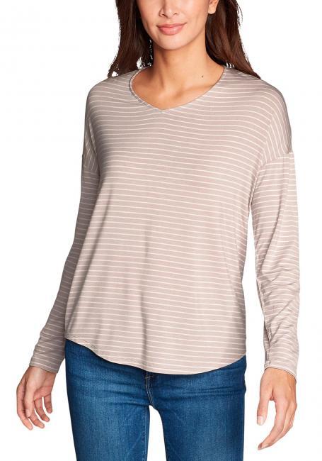 Celestial Shirt - V-Ausschnitt - Langarm - geringelt