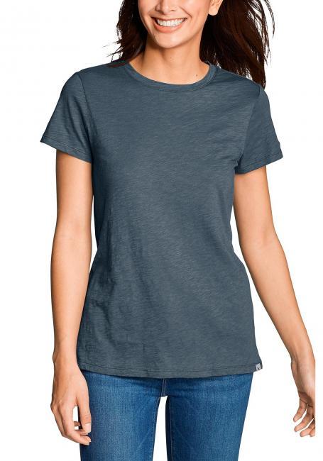 Legend Wash Slub Shirt - Kurzarm mit engem Rundhalsausschnitt