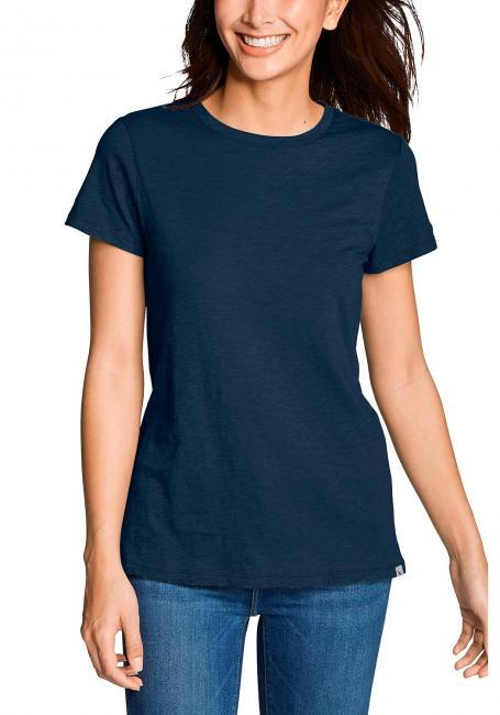 Legend Wash Slub-Shirt - Kurzarm mit engem Rundhalsausschnitt