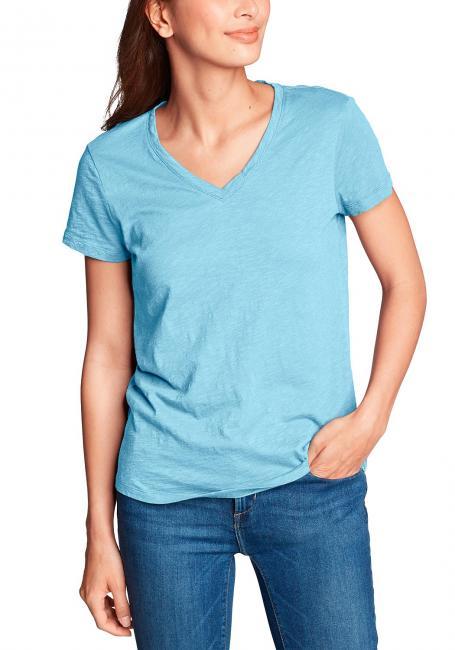 Legend Wash Slub Shirt - Kurzarm mit V-Ausschnitt