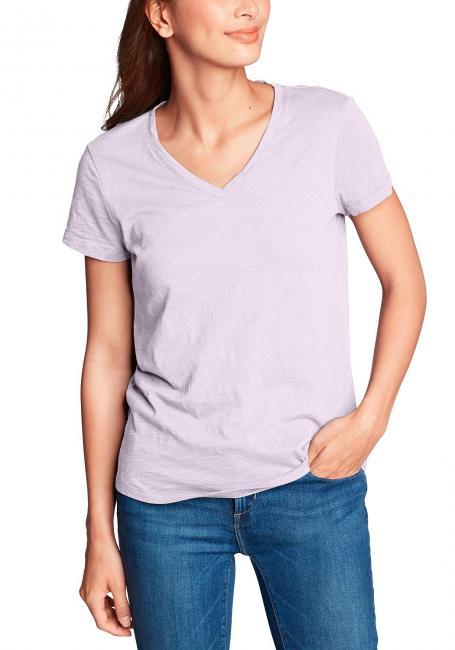 Legend Wash Slub-Shirt - Kurzarm mit V-Ausschnitt
