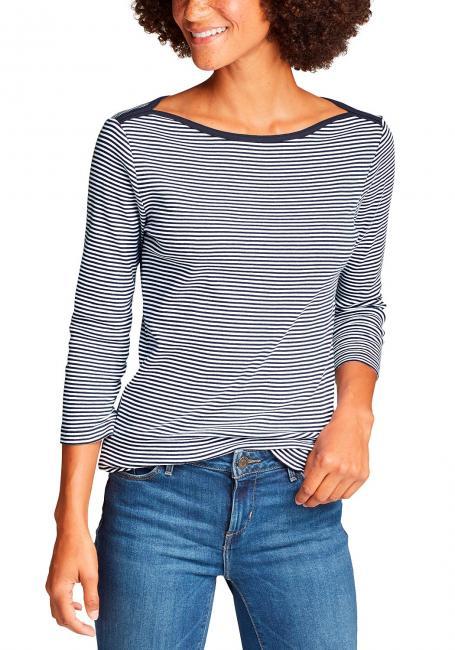 Favorite Shirt - 3/4-Arm mit U-Boot-Ausschnitt - geringelt