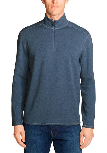 Riverfront Sweatshirt mit 1/4-Reißverschluss - Wendbar