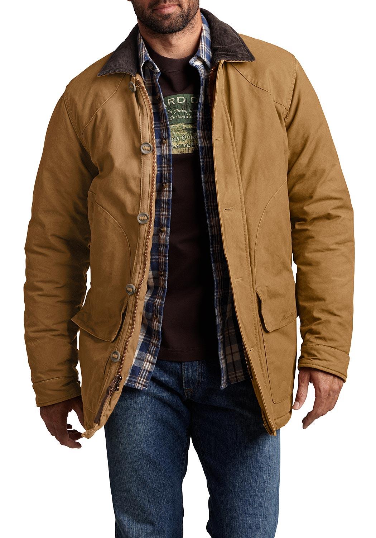 Artikel klicken und genauer betrachten! - Diese Jacke ist aus robustem, strapazierfähigem und festem Canvas. Mit praktischem Zwei-Wege-Reißverschluss und einer Knopfleiste. Zweiteilige Eingrifftaschen vorn und zusätzlich eine verdeckte Reißverschlusstasche unter der Knopfleiste. Der Kragen und die Innenseiten der verstellbaren Manschetten sind mit Cord besetzt.   im Online Shop kaufen