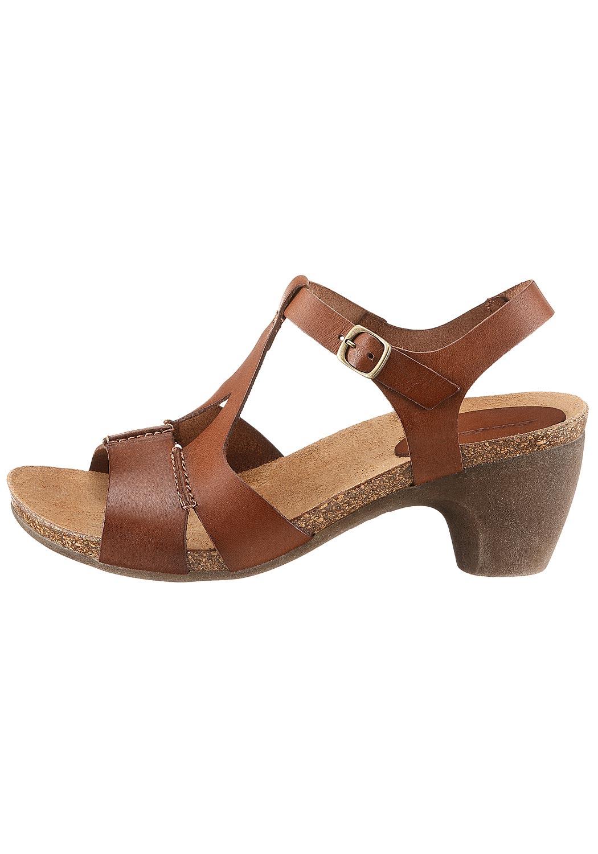 Leder-Sandale mit Schnalle
