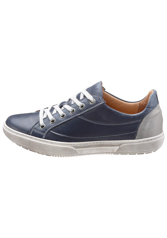 Leder-Sneaker mit kontrastfarbener Synthetiklaufsohle