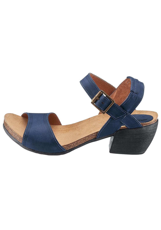 Leder-Sandale im Antik-Look
