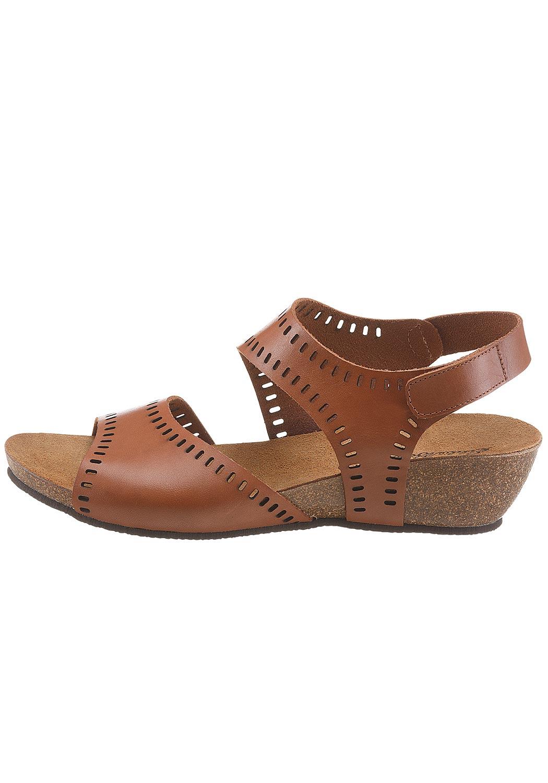 Leder-Sandale mit Lochmuster