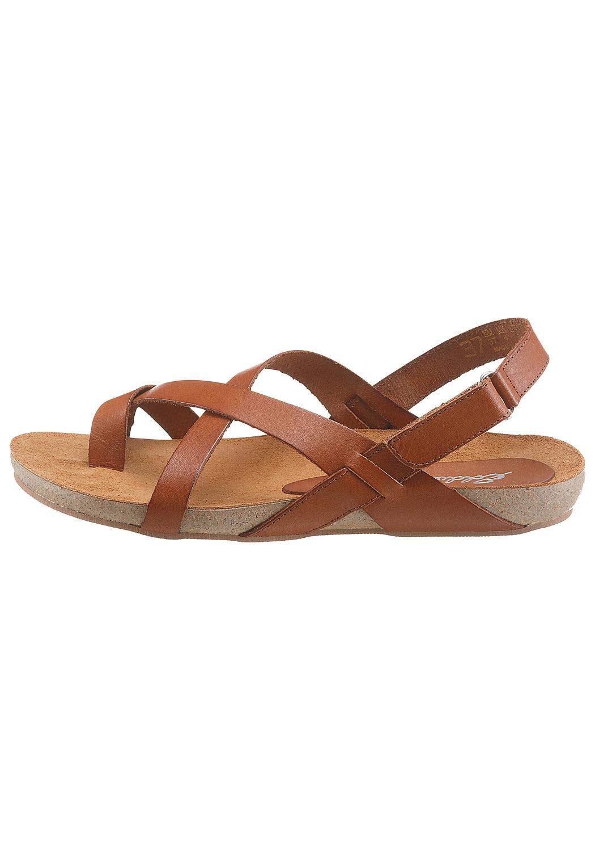 Leder-Sandale mit überkreuzten Riemen