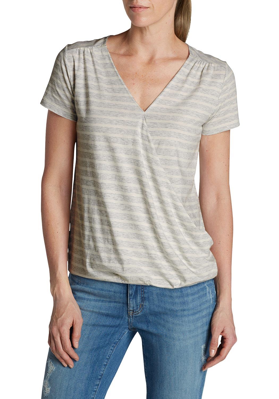 T-Shirt mit Wickelfront - broschei