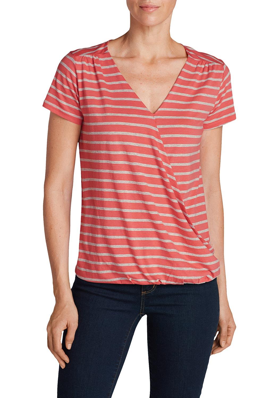 T-Shirt mit Wickelfront jetztbilligerkaufen