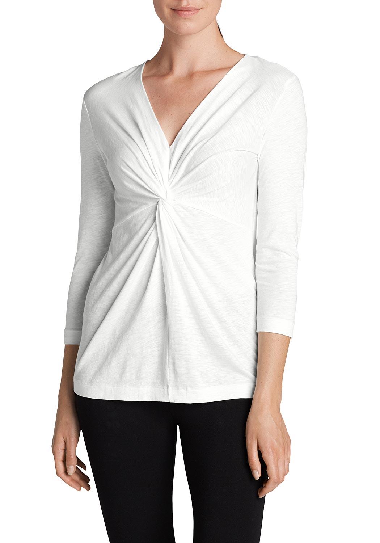 Shirt mit gedrehter Front - Uni - broschei