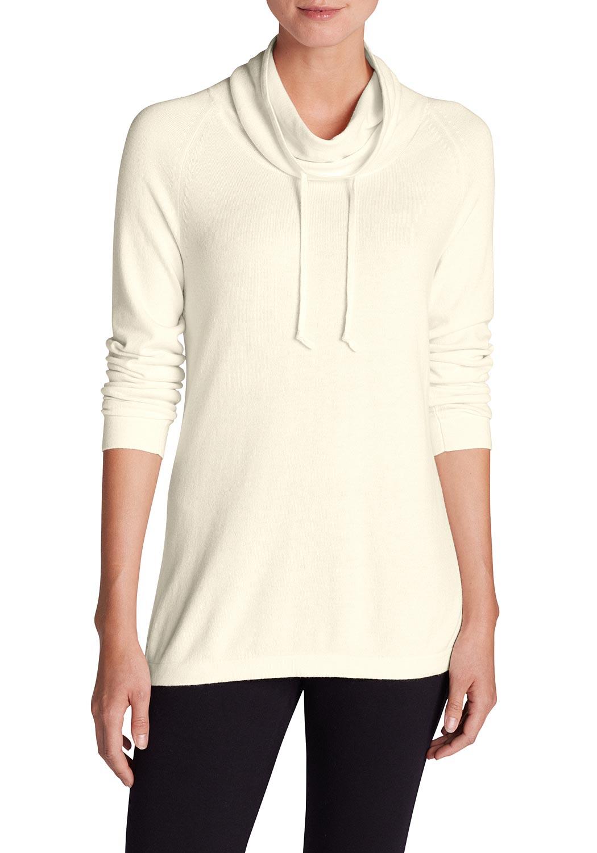 Pullover mit weitem Stehkragen - broschei