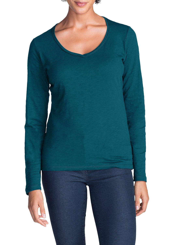 Essential Slub Shirt - Langarm mit V-Ausschnitt jetztbilligerkaufen